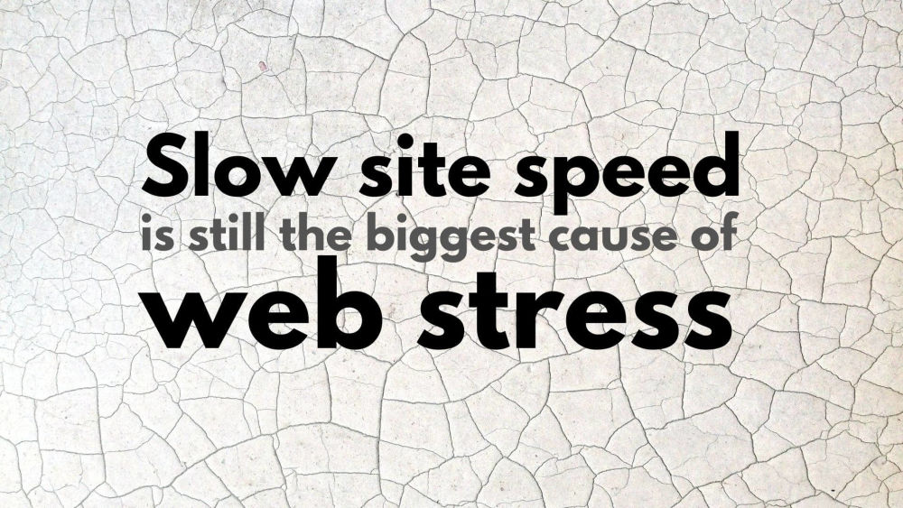 Slow site speed is still the biggest cause of web stress